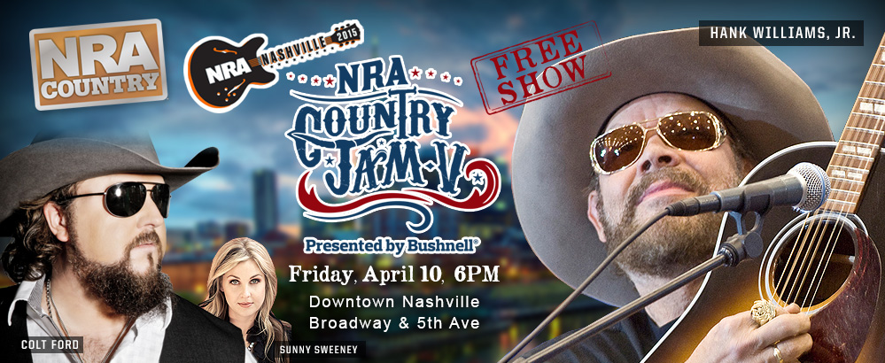 Free NRA Country Jam- Friday, April 10 in Nashville, TN!