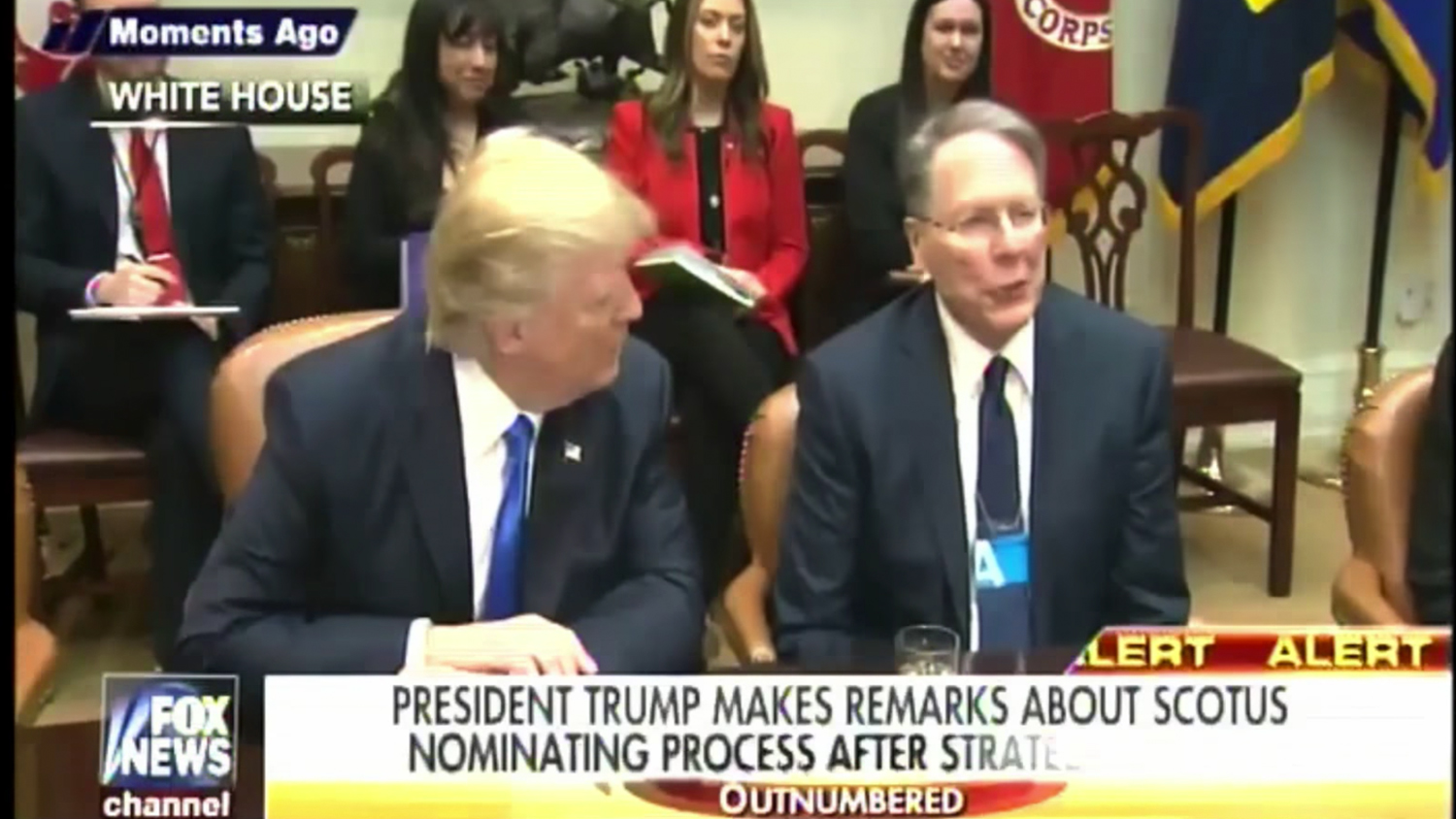 Wayne LaPierre, President Trump: Side-by-Side at White House Meeting