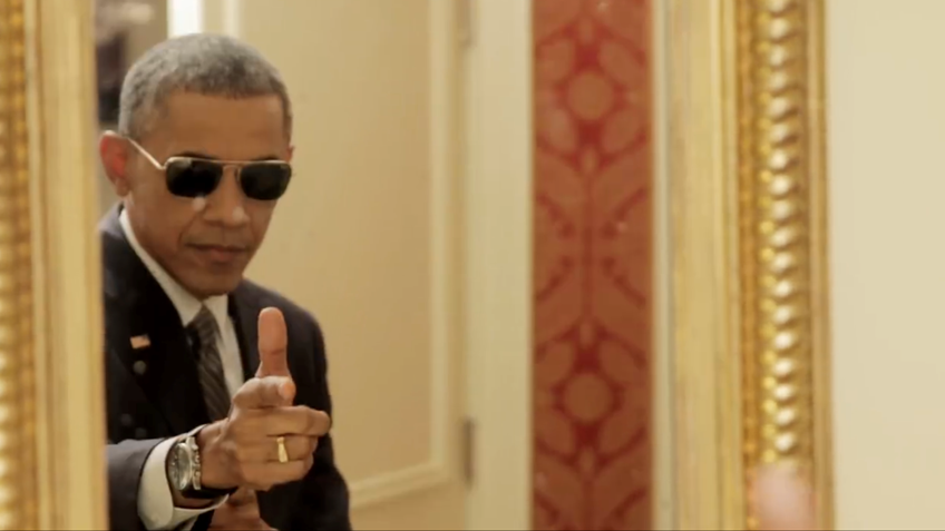Common Ground at Last?  Finger-gun Wielding Obama Provides Lesson for America's Schools