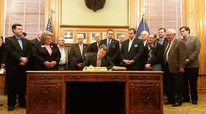 Governor Brownback Signs NRA-Backed Permitless Carry Legislation Into Law