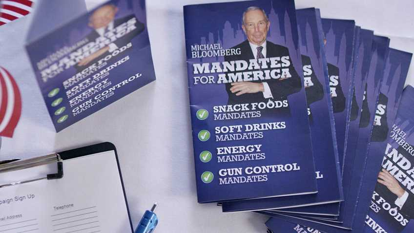 """NRA Ad Targets """"Candidate"""" Bloomberg"""