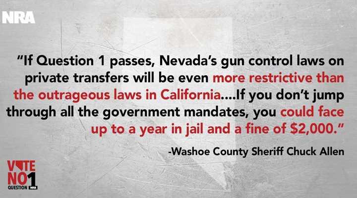 Allen: Question 1 would mean more gun restrictions on law-abiding Nevadans