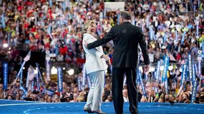 Hillary Clinton and Establishment Democrats Embrace Gun Control at Philadelphia Convention
