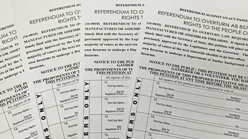 California: Final Weekend to Sign Referendum Petitions, Signatures Still Needed