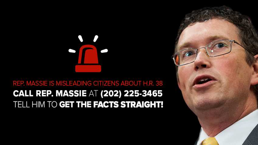 FACT CHECK: Rep. Thomas Massie Spreading Misinformation About Comprehensive Self-Defense Legislation Pending in Congress