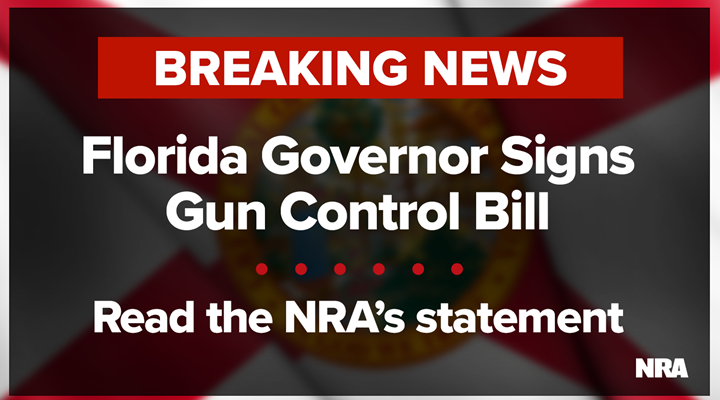 Florida Governor Signs Gun Control Bill