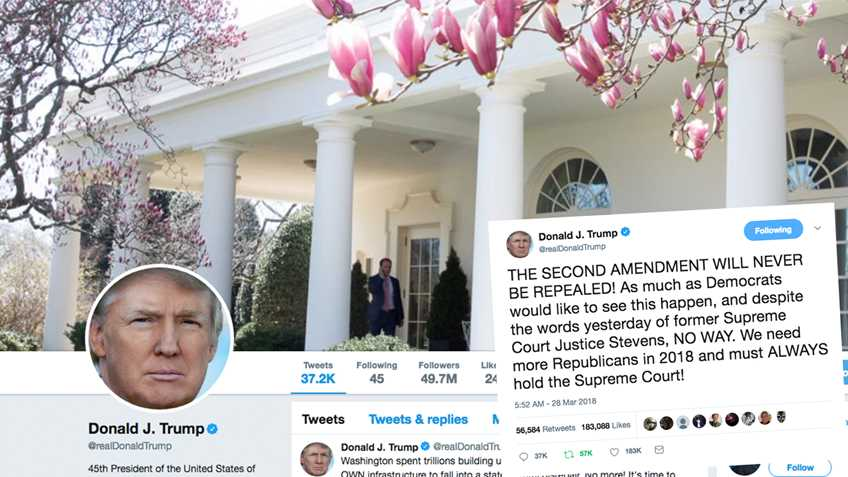 President Trump Reassures Gun Owners:  THE SECOND AMENDMENT WILL NEVER BE REPEALED!