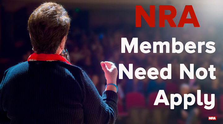 No NRA Members Need Apply