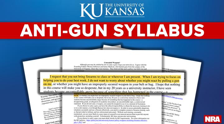 Pro-2A Student Shuts Down Anti-Gun Syllabus
