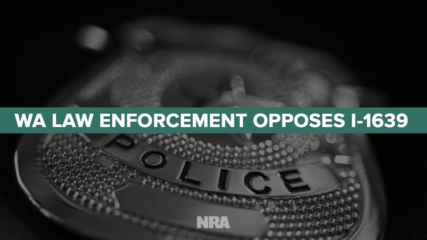 Washington Law Enforcement Opposes Initiative 1639