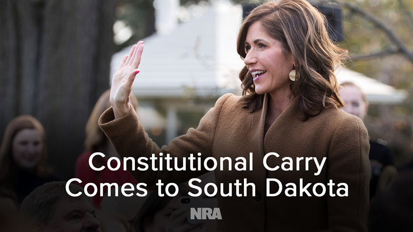 Governor Noem Signs NRA-backed Constitutional Carry Bill