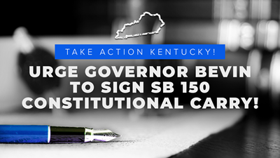Kentucky: Permitless/Constitutional Carry Heads to Governor
