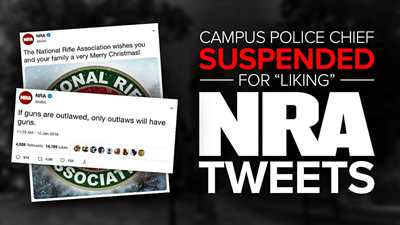 """Get the Hect Outta Here: Police Chief Suspended After Students Complain About Pro-Gun """"Likes"""""""