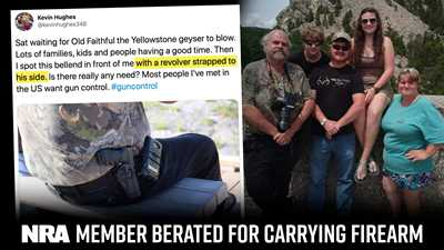 NRA Member Berated for Carrying Firearm