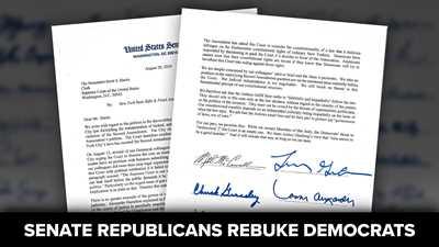 Senate Republicans Rebuke Colleagues for Threatening SCOTUS