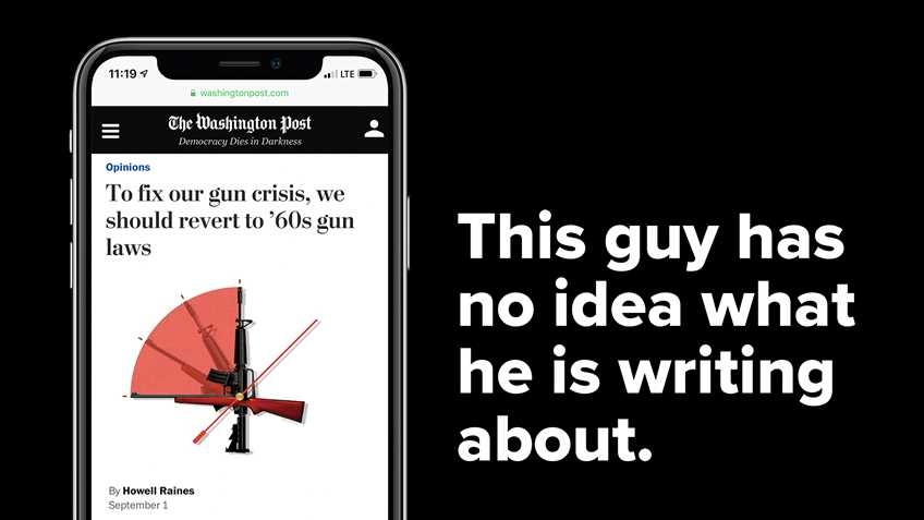 Groovy: Former NY Times Editor Wants to Return to 1960 Gun Laws