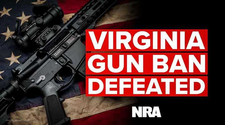 Virginia: Gun Ban Bill Defeated!