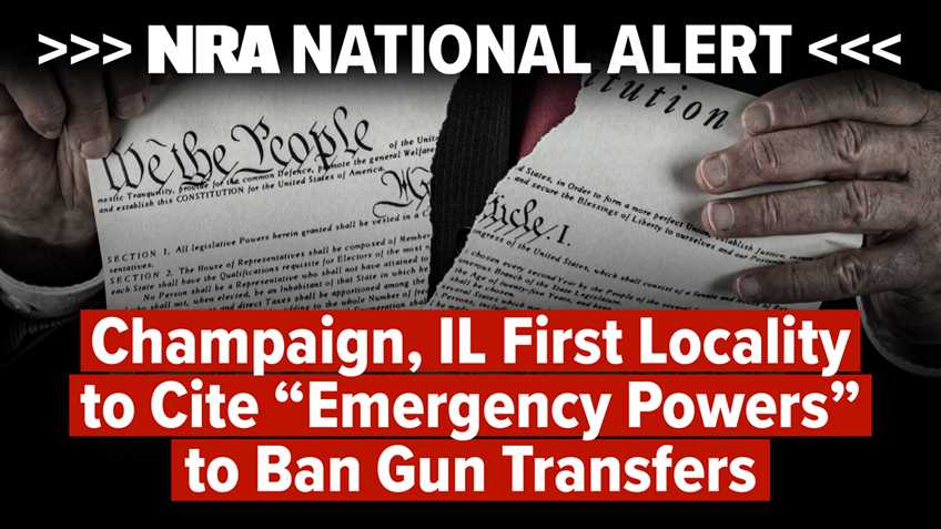 """National Alert: Champaign Illinois First Locality to Cite """"Emergency Powers"""" to Ban Gun Transfers"""